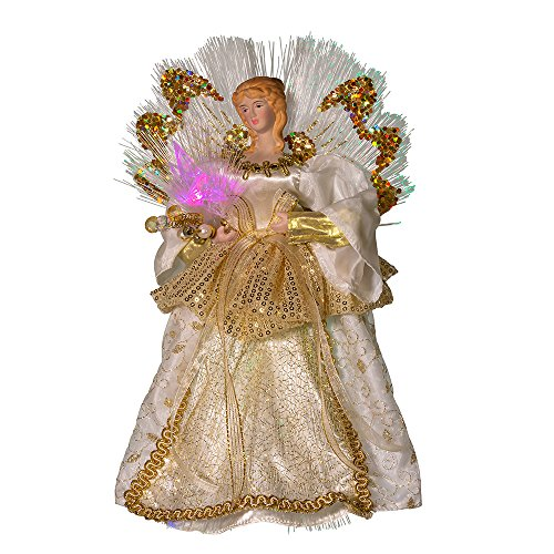 - Kurt Adler 12-Inch Fiber Optic Angel Treetop