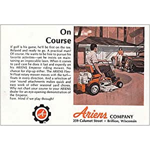 Amazon.com: 1965 Ariens cortacésped: en curso, Ariens ...