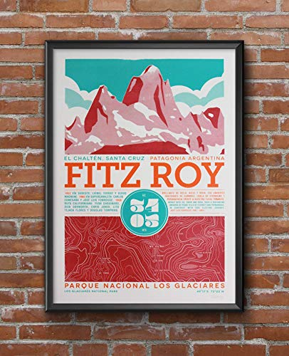 - Fitz Roy hand printed screen print poster