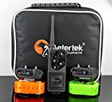 600 YARD WATERPROOF REMOTE TWO- DOG TRAINING 7 LEVEL SHOCK VIBRATION COLLAR (AT-216S-2)