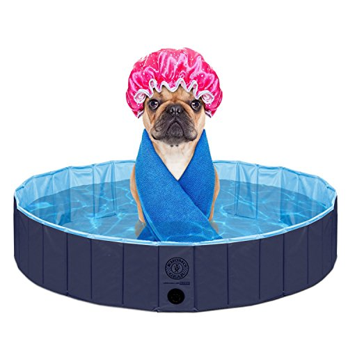 KOPEKS Outdoor Swimming Pool Bathing Tub - Portable Foldable - Ideal for Pets - XL 63'' x 12'' by KOPEKS