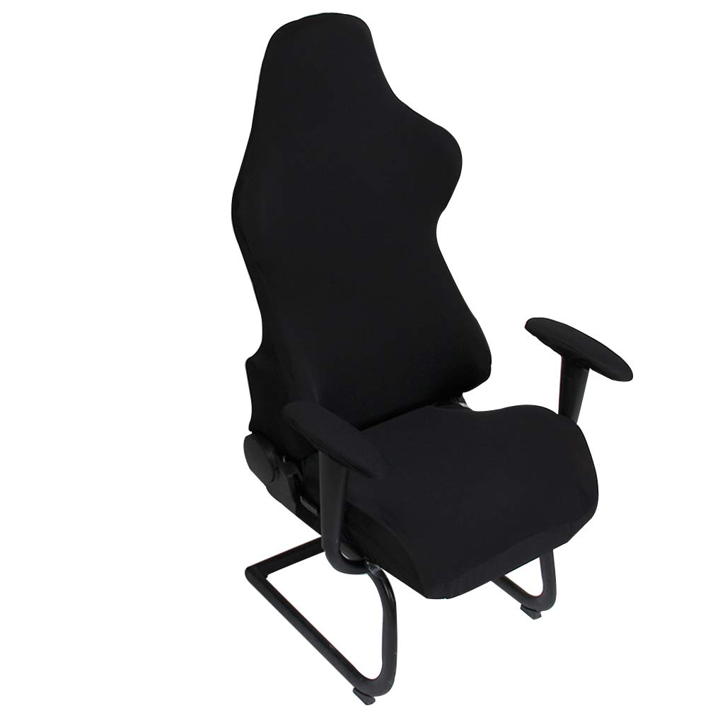 Protective /& Stretchable Cloth Polyester Universal Chair Slipovers for Computer Racing Gaming Chair Black Jinzio Gaming Chair Cover and Armset Cover