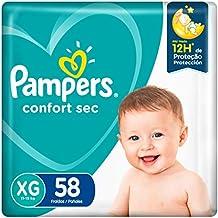 Fraldas Pampers Confort Sec Xg 58 Unidades, Pampers