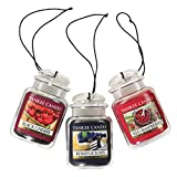 yankee air freshener - Yankee Candle Car Jar Ultimate Hanging Air Freshener 3-Pack (Berrylicious, Black Cherry, and Red Raspberry)