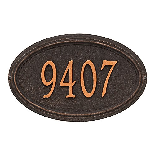 """Customized Concord OVAL Standard Wall Address Plaque 21""""W x 12""""H (1 (Concord Oval Plaque)"""