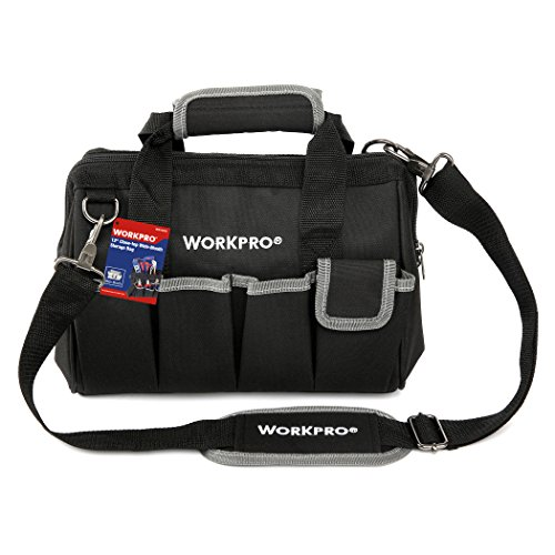 WORKPRO W081020A Compact Tool Storage Bag Top Wide Mouth 12-inch by WORKPRO