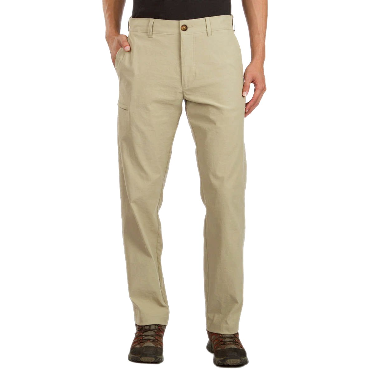 UNIONBAY UB Tech Classic Fit Expandable Comfort Waist Chino Pant for Men (36W x 32L, Desert)
