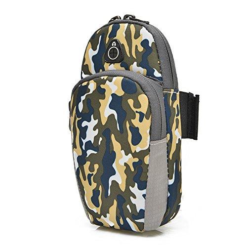 Wrist Equipment Bag Arm Jogging Camo Arm Bag Waterproof Running Sports Yellow Case Y6xCwq