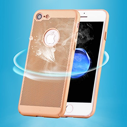 Hülle für iPhone 7 ,Schutzhülle Für iPhone 7 leichte Breathable Full Coverage PC Shockproof schützende rückseitige Abdeckungs-Fall ,cover für apple iPhone 7,case for iphone 7 ( Color : Gold )