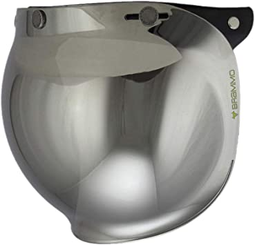 Clear Woljay 3-snap Motorcycle Helmet Bubble Shield with Flip Adapter