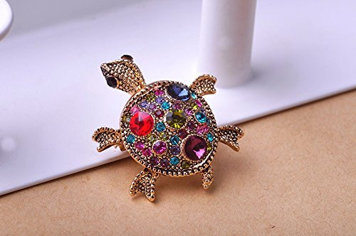 1pc Anti Gold Colares Accessoris Tortoise Broches Brooch Bouquet Bijuterias Hijab Pin up Broches Ferfumes - Anti Gold Ruby