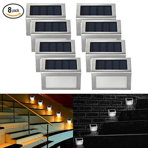 8 Pack Solar Lights - 9