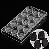 Grainrain Leafs Plastic PC Polycarbonate Chocolate Jelly Pudding Molds DIY Candy Mould