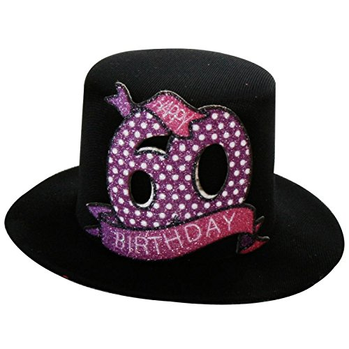 Annastore 6 With Clip Happy 60th Birthday Hat Hats Amazoncouk Kitchen Home