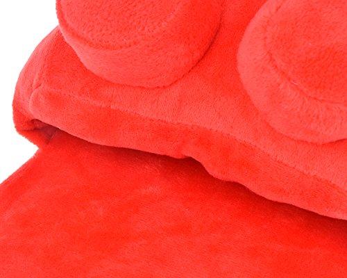 construction pantoufles paire maison pièces de DSstyles rouge peluche unisexe pantoufles doux blocs brique de en IqgwF