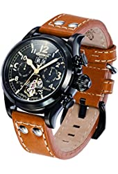 Ingersoll Men's IN4506BBK Bison No. 18 Analog Display Automatic Self Wind Brown Watch