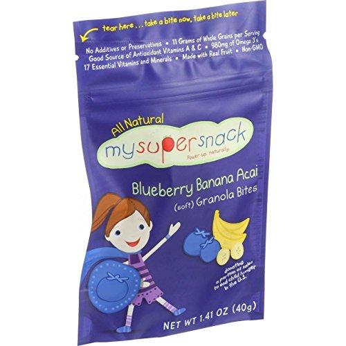 Mysupersnack Soft Granola Bites Blueberry Banana Acai 1.41 Oz Case Of 6 by Mysupersnack
