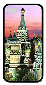 iphone 4S cases Kremlin Building TPU Black for Apple iPhone 4/4S