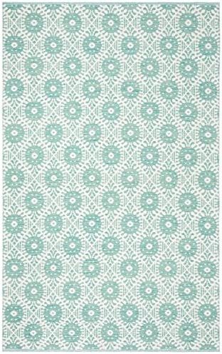 Safavieh Montauk Collection Vintage Area Rug, 8 x 10 , Aqua Ivory