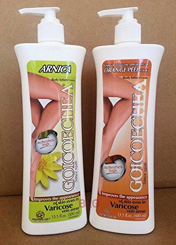 Goicoechea Body Lotion Crème ARNICA & ORANGE PEEL Combo. Améliore l'apparence de la peau dans les espaces Vericose Vein 13,5 oz .. (2 pack) ... HPVagr