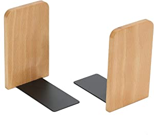 Generic Brands Willa BOOKENDS,Wood Bookends,Nature Coating,Decorative Bookend,Office bookends(Beech Wood)