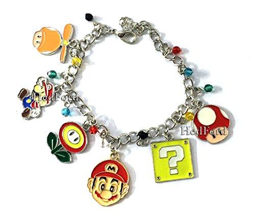 [Super Mario Game Charm Bracelet (Bracelet)] (One Up Mushroom Costume)