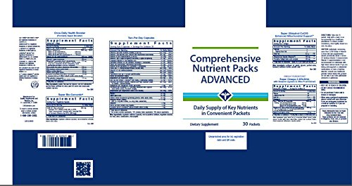 Life Extension Comprehensive Nutrient Packs ADVANCED 30 Packets