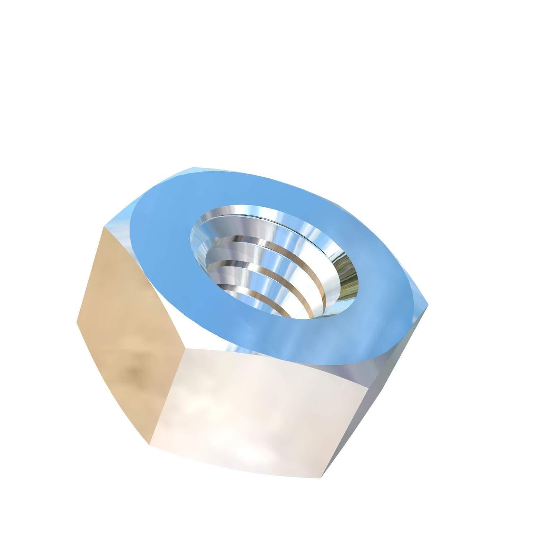 Allied Titanium 0001774, (Pack of 20) 1/4-20 UNC Titanium Hex Nut, Grade 2 (CP)