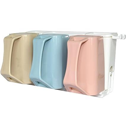 Buyger Soporte de plástico para cepillo de dientes, estante de almacenamiento de pasta de dientes