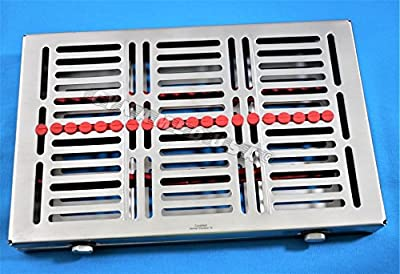 New 1 German Dental Autoclave Sterilization Cassette Rack Box Tray For 20 Instrument With Lock New Design