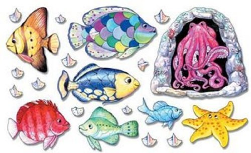Fishy Tales Rainbow Fish Felt Figures for Flannelboard Stories- Precut & Ready to Use by Story Time Felts