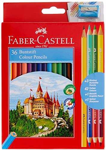 Faber-Castell 110336 Matita colorata, 36 piezas
