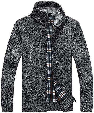 ニット セーター メンズ カーディガン カジュアル ジャケット 秋冬 綿 無地 厚手 コート 防寒 大きいサイズ