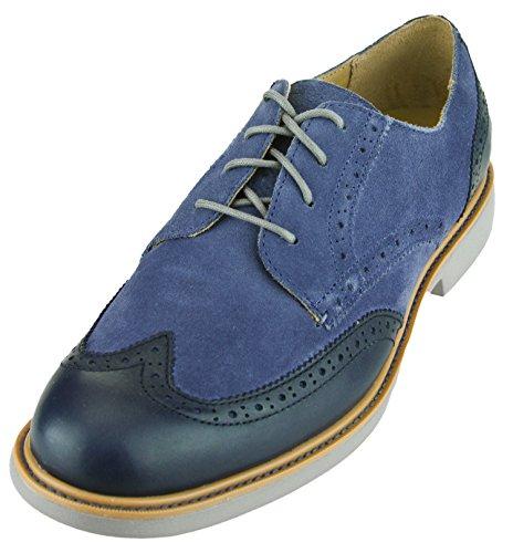 Cole Haan Hombres Great Jones Wingtip Ii Zapatos Blue Indigo