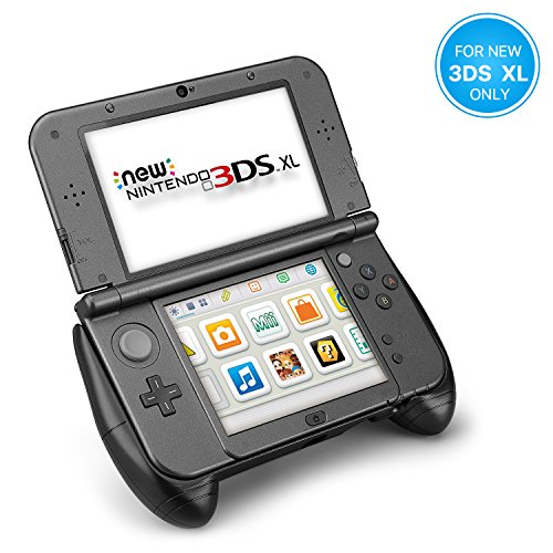 TNP New Nintendo 3DS XL Hand Grip - Protective Cover Skin Controller Grip Case Ergonomic Comfort Anti Slip Handle Console Grip with Kick-Stand for New Nintendo 3DS XL LL 2015 Model