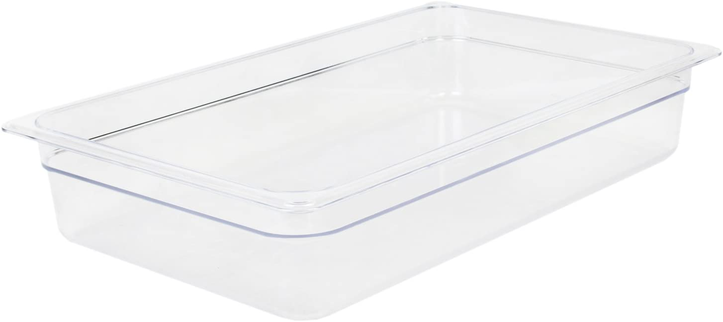 Excellante Full Size 4-Inch Deep Polycarbonate Food Pan