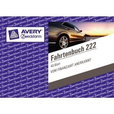 Avery Zweckform 222 Fahrtenbuch DIN A6 quer steuerlicher kmNach
