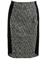 Elie Tahari Womens Willow Textured Knee-Length Pencil Skirt
