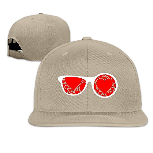 MaNeg Sunglasses Red Hearts Unisex Fashion Cool Adjustable Snapback Baseball Cap Hat One - Ban Store Online Ray