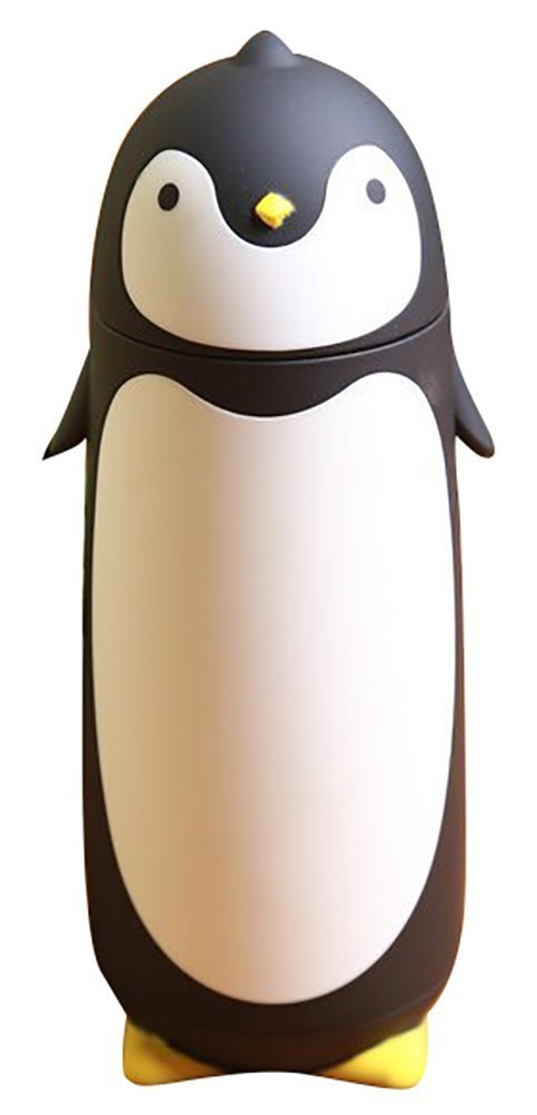 Alohha Stainless Steel Cartoon Penguin Thermos Water Bottle for Kids Water Bottle