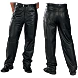 Xelement 860 Classic Mens Black Loose Fit Leather Pants - 36