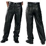 Xelement 860 Classic Mens Black Loose Fit Leather Pants - 34