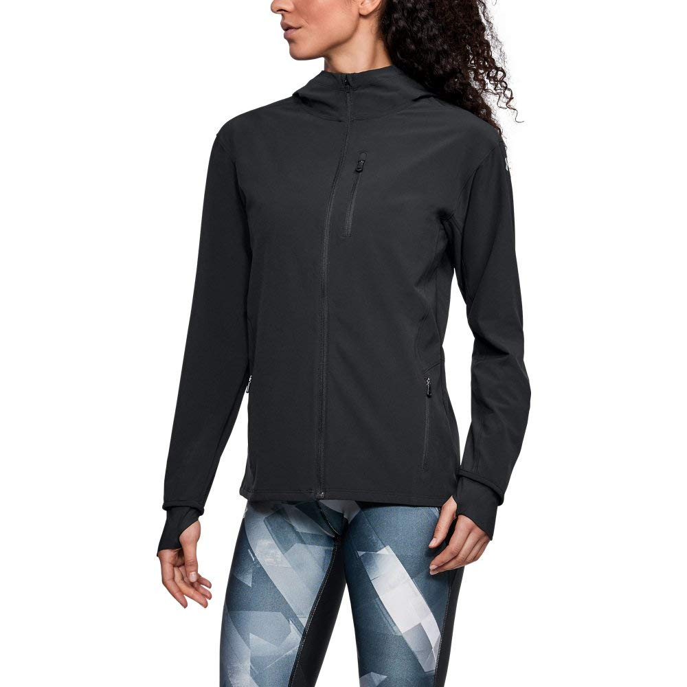 Under Armour Women's Outrun The Storm Jacket, Black /Reflective, XX-Large by Under Armour (Image #1)
