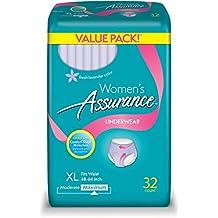 Womens Assurance Underwear (Fresh Lavender Color), XL, 32 ct (XL, 1 PACK)