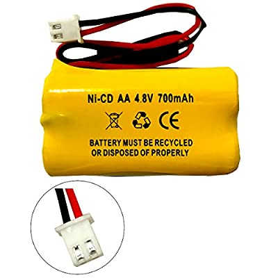 Exit Sign Emergency Light Battery Replacement for 4.8v 650mAh 800mAh Lithonia D-AA650BX4 BYD D-AA650BX4 DAYBRIGHT D-AA650BX4SQ Interstate NIC1117 All Fit E1021R EJW-NICAD NIC0991 Dantona Custom 145-10