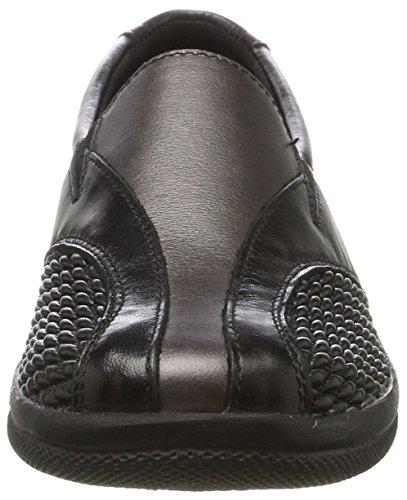 Comfortabel Damepantoffel 942.132 Zwart (black)