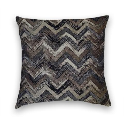 Grey Black Brown Zig Zag Decorative Throw Pillow Cover (Black And Brown Throw Pillows)