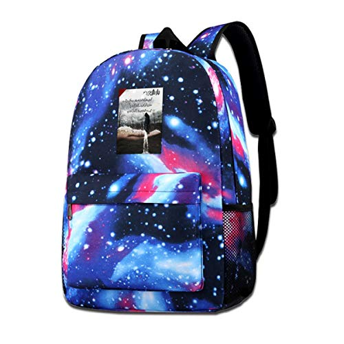 Galaxy Printed Shoulders Bag World Poetry Day Urdu Poetry Nazm Fashion Casual Star Sky Backpack For Boys&girls