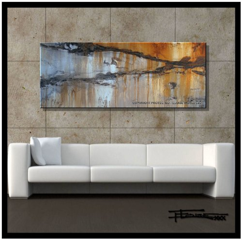 Modern, Abstract, Canvas Painting, Contemporary Wall Art, , Limited Edition Giclee...ENRAPTUREII..60x24x1.5 Ready to Hang, US artist..ELOISExxx