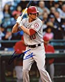 Grant Green Signed Photograph - At Bat 8x10 W coa - Autographed MLB Photos